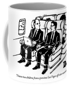One Man Speaks To Another On An Airplane Coffee Mug