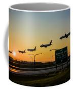 One Plane Landing At O'hare Coffee Mug