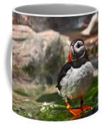 One Puffin Bird Art Prints Coffee Mug