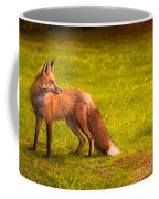 One Red Fox Coffee Mug by Bob Orsillo