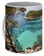 One Step To Paradise - Cala Mitjana Beach In Menorca Is A Turquoise A Cristaline Water Paradise Coffee Mug