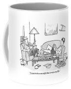 One Teenaged Or College-aged Boy Speaks Coffee Mug by Robert Leighton