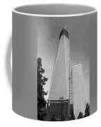 One W T C In Black And White Coffee Mug