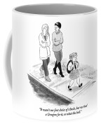 One Woman To Another As They Walk Down The Street Coffee Mug