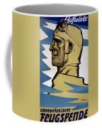 Onwards Upper Bavarian Aviation Fund Coffee Mug by Fritz Erler