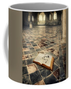 Open Book And Roasary On The Floor Coffee Mug