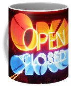Open Closed Coffee Mug