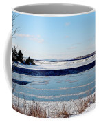 Open Creek - Ice Fishing - Winter Coffee Mug