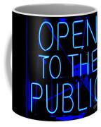 Open To The Public Coffee Mug
