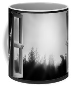 Open Window At Night Bw Coffee Mug