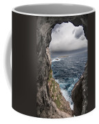 A Natural Window In Minorca North Coast Discover Us An Impressive View Of Sea And Sky - Open Window Coffee Mug