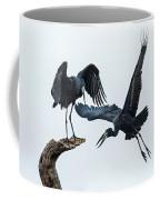 Openbill Storks Flying, Tarangire Coffee Mug