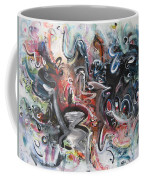 Orang Elblue Black Grey Abstract Landscape Art Coffee Mug