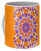 Orange And Purple Kaleidoscope Coffee Mug