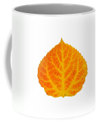 Orange And Yellow Aspen Leaf 3 Coffee Mug