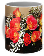 Orange Apricot Roses With Oil Painting Effect Coffee Mug