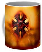 Orange Burst Abstract Coffee Mug