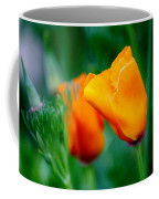 Orange California Poppies Coffee Mug