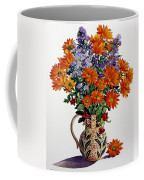 Orange Chrysanthemums Coffee Mug