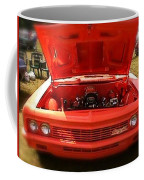 Orange Color Chevrolet Car Coffee Mug