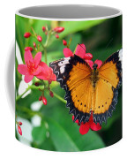 Orange Common Lacewing Butterfly Coffee Mug