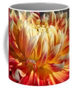 Orange Floral Art Dinner Plate Dahlia Flower Coffee Mug