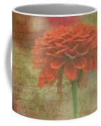 Orange Floral Fantasy Coffee Mug