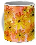 Orange Flowers Galore Digital Art Coffee Mug