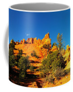 Orange Foreground A Blue Blue Sky  Coffee Mug
