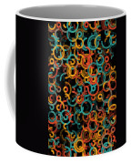 Orange Geometric Circle Segment Pattern Coffee Mug