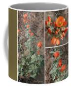 Orange Globe Mallow Collage Coffee Mug