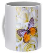 Orange Gray Butterfly Coffee Mug