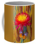 Orange Gray Butterfly On Mum Coffee Mug