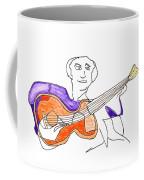 Orange Guitar Coffee Mug