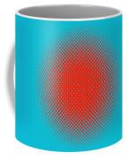 Optical Illusion - Orange On Aqua Coffee Mug