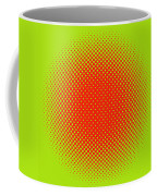 Optical Illusion - Orange On Lime Coffee Mug