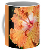 Orange Hibiscus After The Rain Coffee Mug