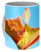 Orange Hibiscus Texture II Coffee Mug