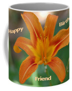Orange Lily Birthday Coffee Mug