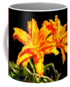 Orange Lily Twins Coffee Mug