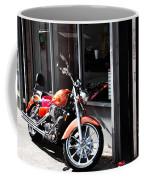Orange Motorcycle Coffee Mug
