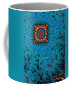 Orange On Blue Abstract Coffee Mug