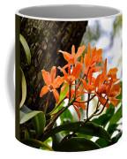 Orange Orchid Coffee Mug