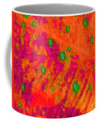 Orange Purple Tapestry Abstract Coffee Mug