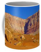 Orange Rock Before The Cliffs Coffee Mug