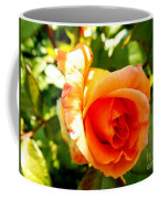 Orange Rose Bloom Coffee Mug