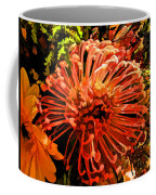 Orange Spice Floral  Coffee Mug