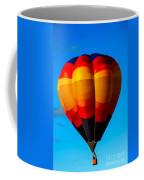 Orange Stipped Hot Air Balloon Coffee Mug