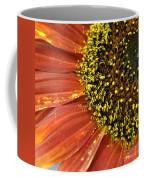 Orange Sunflower Close Up Coffee Mug
