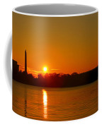 Orange Sunrise Over Dc Coffee Mug